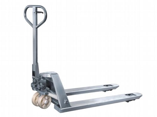 2 Ton Stainless Steel Hand Pallet Pump Truck - 2000KG Fork Lift Trolley Jack Push